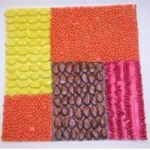 Image of Bead Mosaic for Mardi Gras