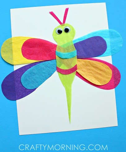 Image of Colorful Tissue Paper Dragonfly