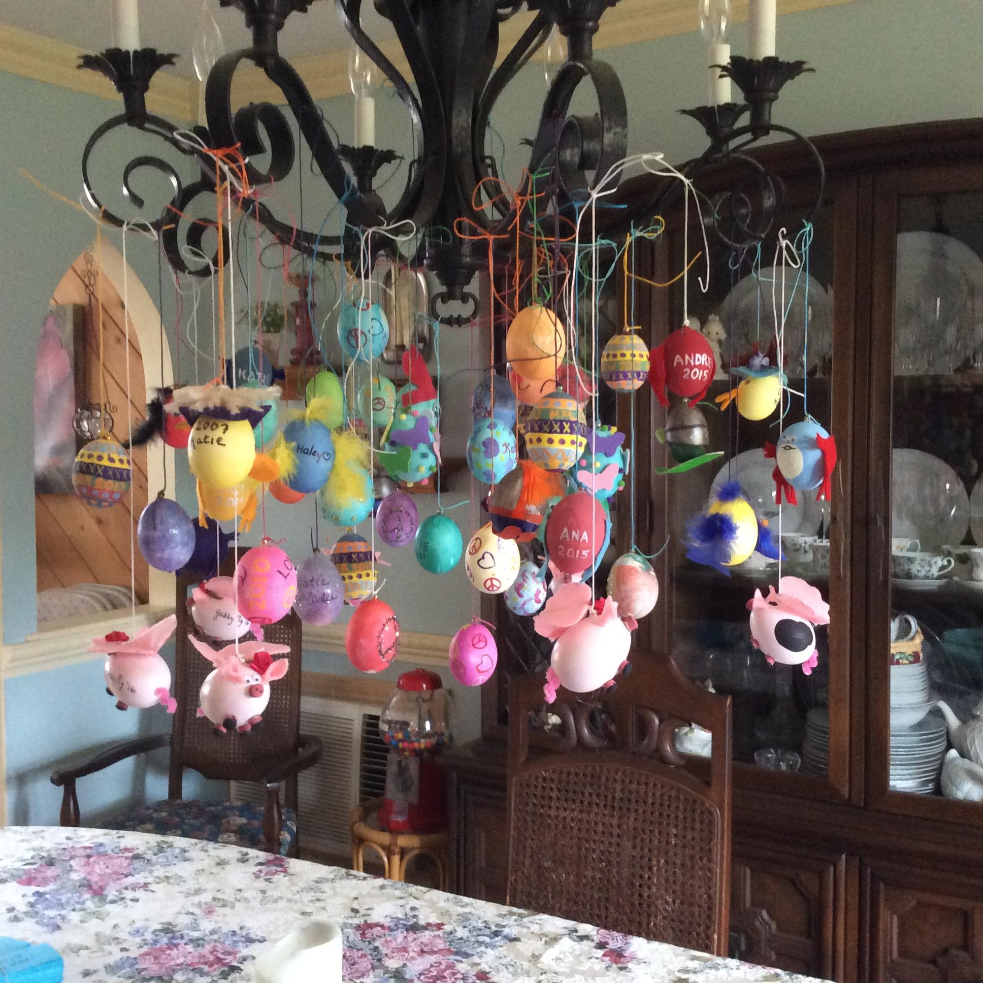 Egg chandelier free kids crafts egg chandelier arubaitofo Images