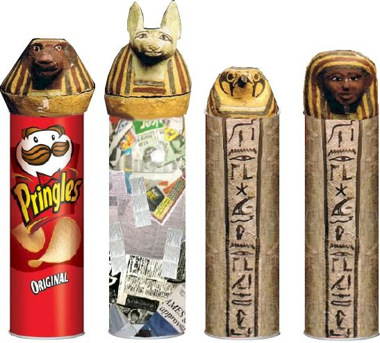 DIY egyptian canopic jars