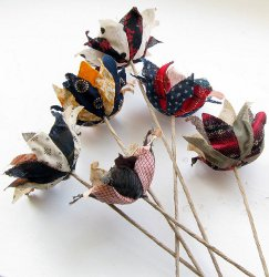 Image of Recycled Fabric Flowers