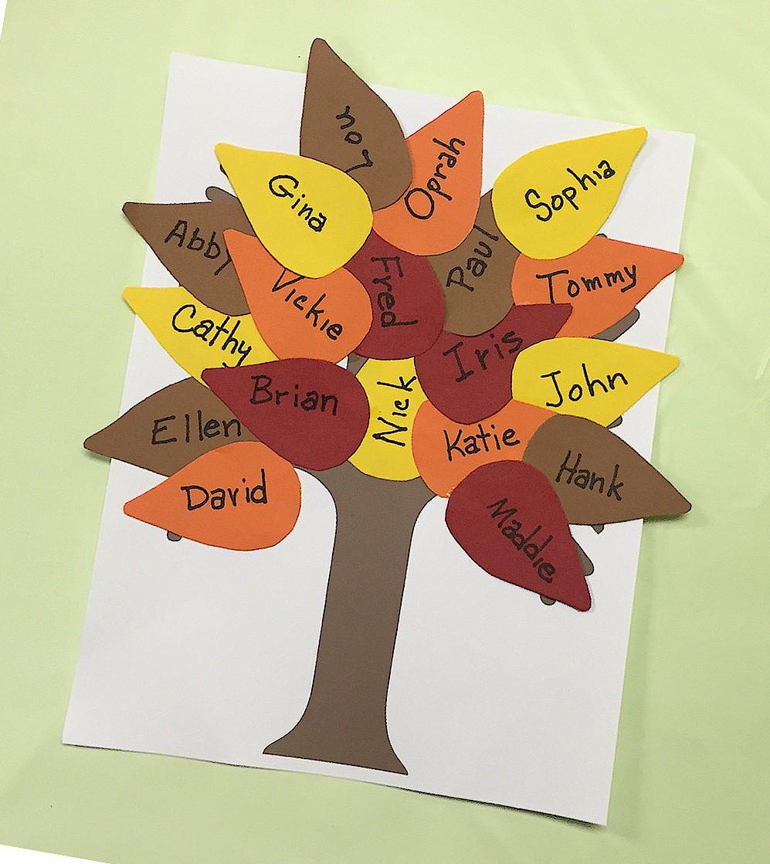 Image of Fall Classroom Tree