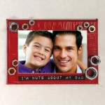 Image of Magnetized Jar Lid Photo Frame