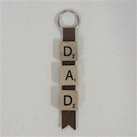 Scrabble Tile Key Chain for Dad