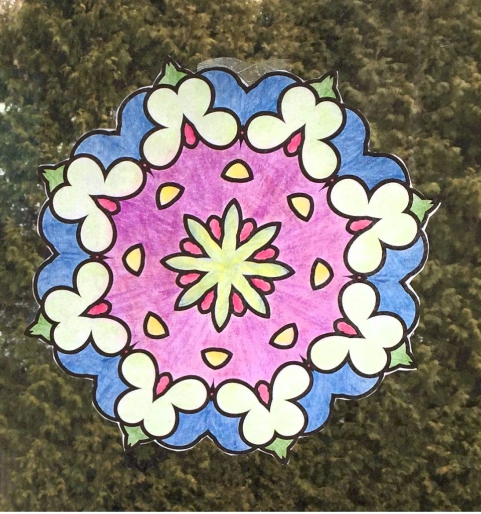 Faux Stained Glass Mandala Patterns