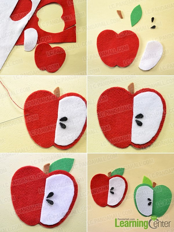 Image of Easy Felt Apple Embellishments