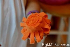 Image of Felt Flower Decoration