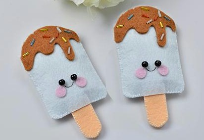 Felt Ice Cream Pops