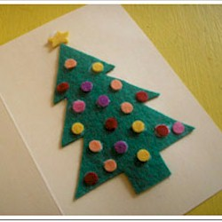 Image of Punch Out Christmas Tree Card