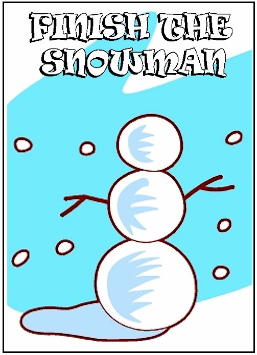 Image of Finish the Snowman