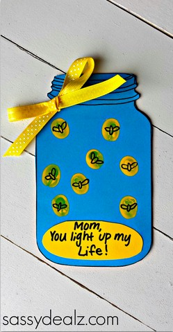 Fingerprint Firefly Mother's Day Card