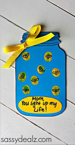 Fingerprint Firefly Mother's Day Card