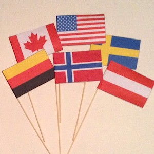 Printable flags from around the world to use in your Olympic crafts