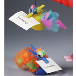 Feathered Note Holder