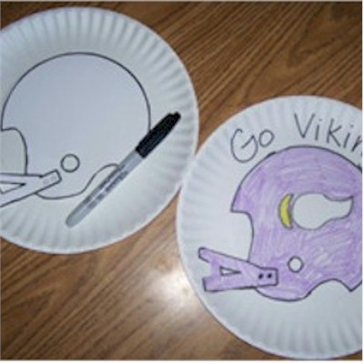 Paper Plate Football stencil project