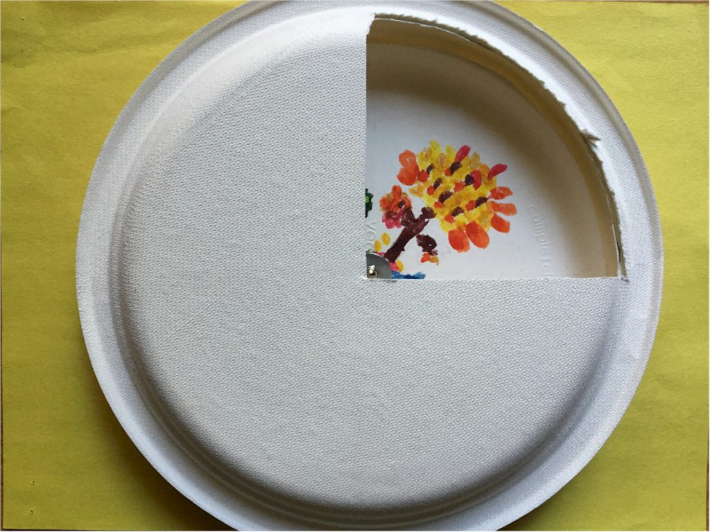 Paper Plate Four Seasons Clock