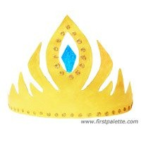 Image of Printable Frozen Princess Crown