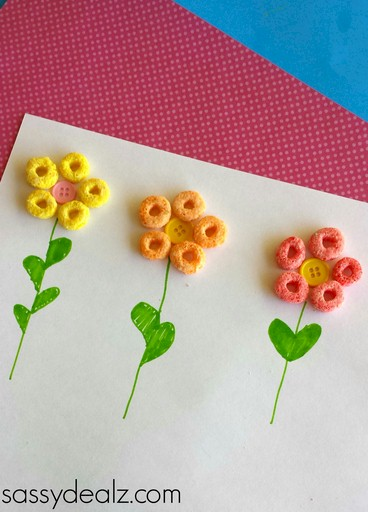 Image of Fun Fruit Loop Flowers