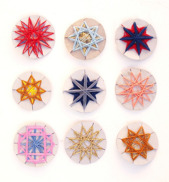 Image of Decorative Geometric String Stars
