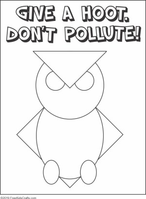 Image of Give A Hoot Dont Pollute Craft