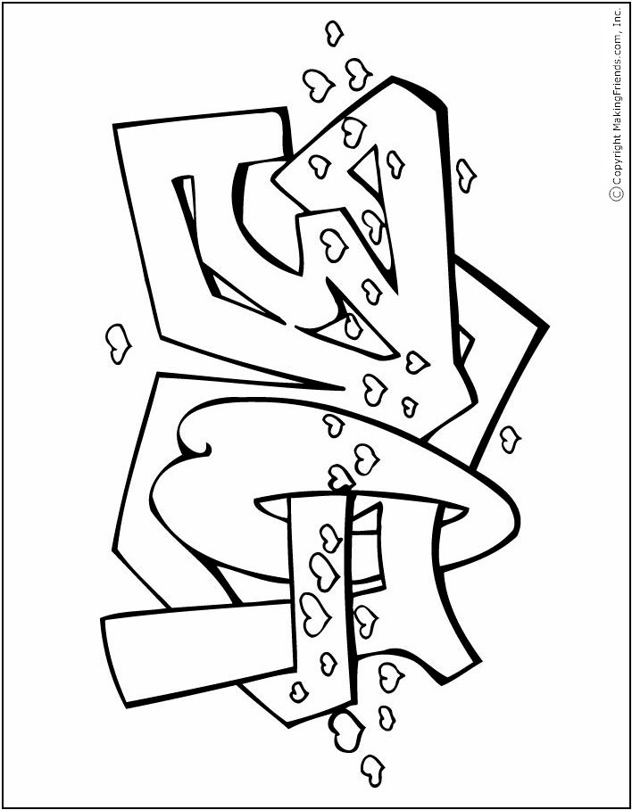 Love Valentine Coloring Page