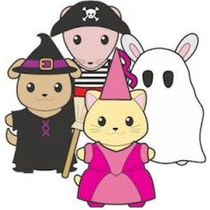 Image of Printable Halloween Buddies Paper Dolls