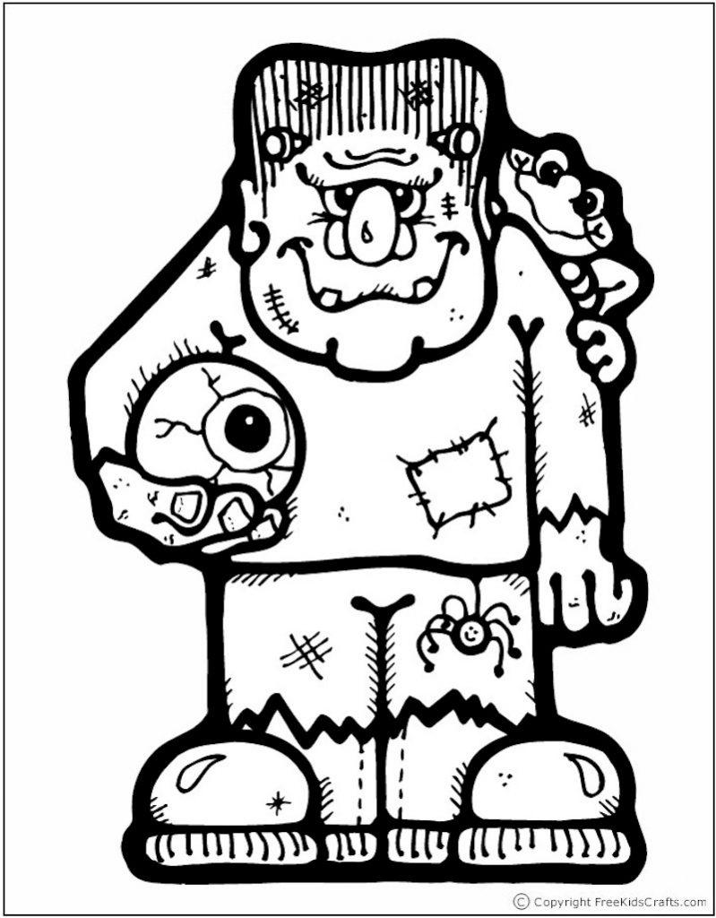 halloween-coloring-page-frankenstein - Free Kids Crafts