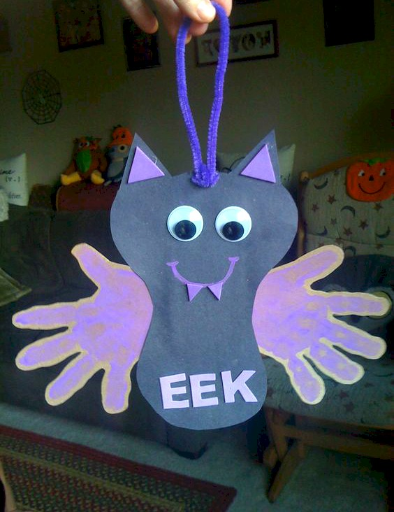 Image of Halloween Handprint Bat