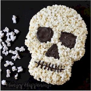 Image of Tasty Halloween Popcorn Skull Craft