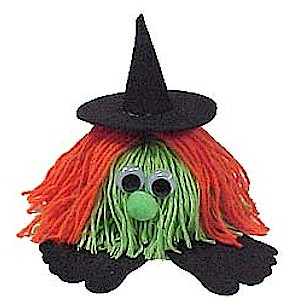 Image of How To Make A Halloween Witch Yarn Bug