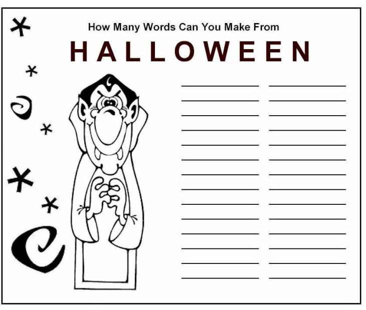 Halloween Word Game