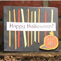 Image of Scrap Strip Halloween Card