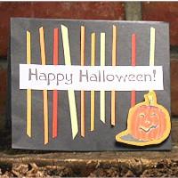 Scrap Strip Halloween Card
