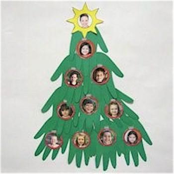 Image of Handprint Christmas Tree