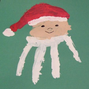 Image of Handprint Santa Craft