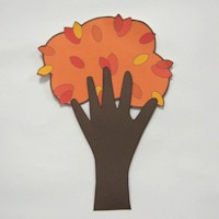 Handprint Autumn Tree