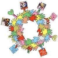 Image of Handprint Wreath  Of Thankfulness