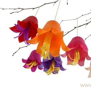 Image of Hanging Tissue Paper Flowers