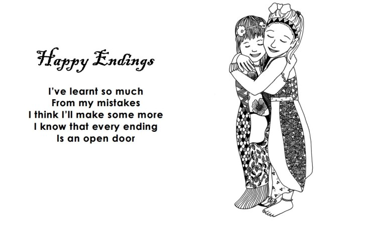Happy Endings Coloring Page