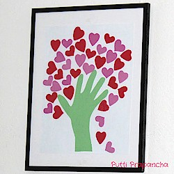 Image of Handprint Heart Tree