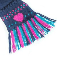 Image of Heart Duplicate Stitch Scarf Embellishment