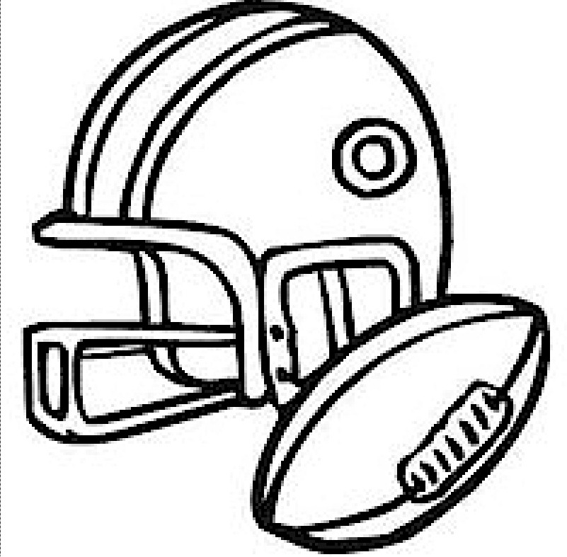 helmet-football-coloring-page - Free Kids Crafts