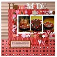 Home Made Love Scrapbook Page