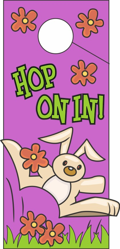 Hop On In Door Hanger