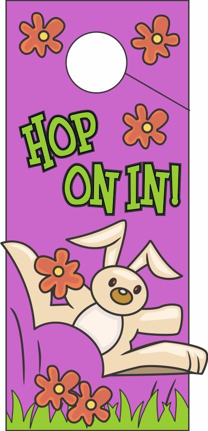 Image of Hop On In Door Hanger