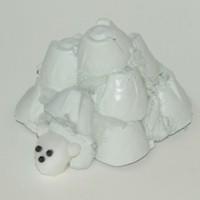 Egg Carton Igloo and Polar Bear Pal