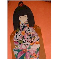 Japanese Origami Dolls