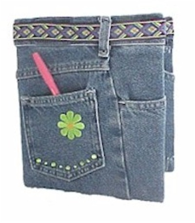 recycled jeans book cover