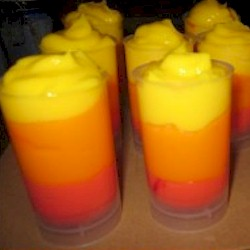 Frozen Sunburst Jell-O Pudding Push Ups