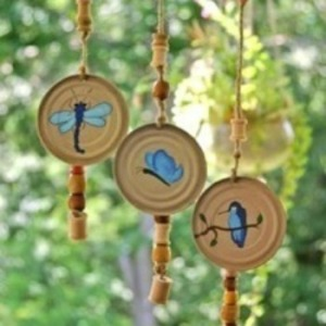 Image of Juice Can Lid Wind Chimes